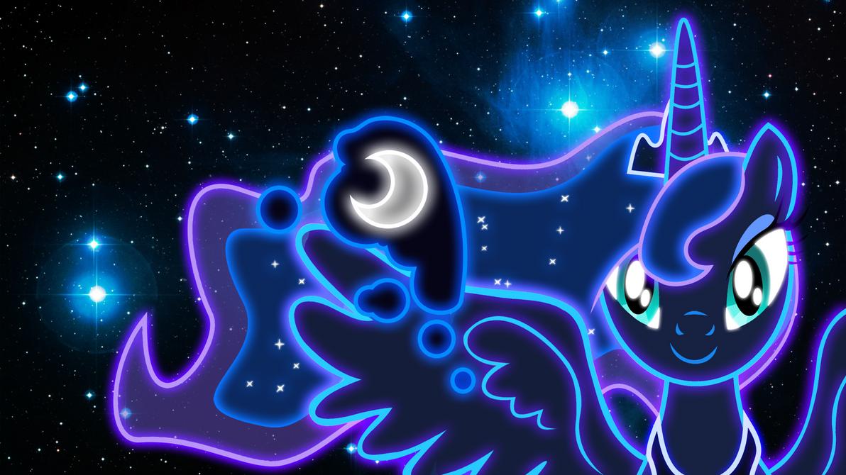 Neon Princess Luna Wallpaper by ZantyARZ