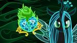 Neon Queen Chrysalis Wallpaper