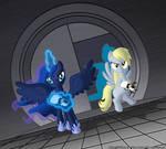 Portal 2 Luna and Derpy