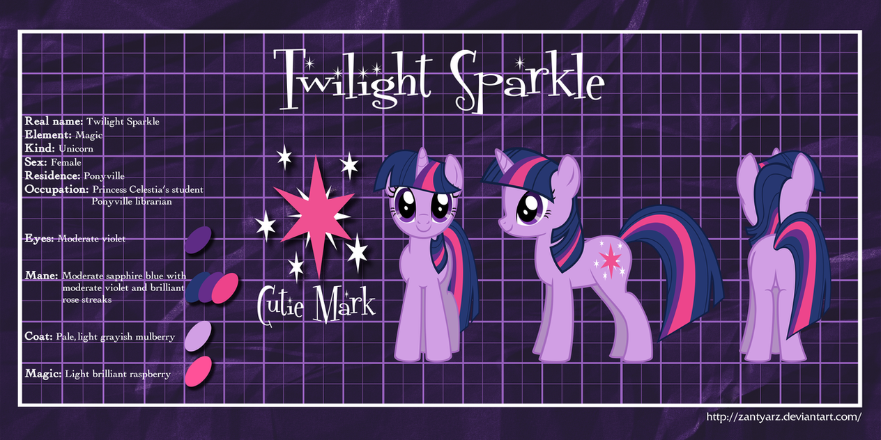 MLP Profiles: Twilight Sparkle by ZantyARZ