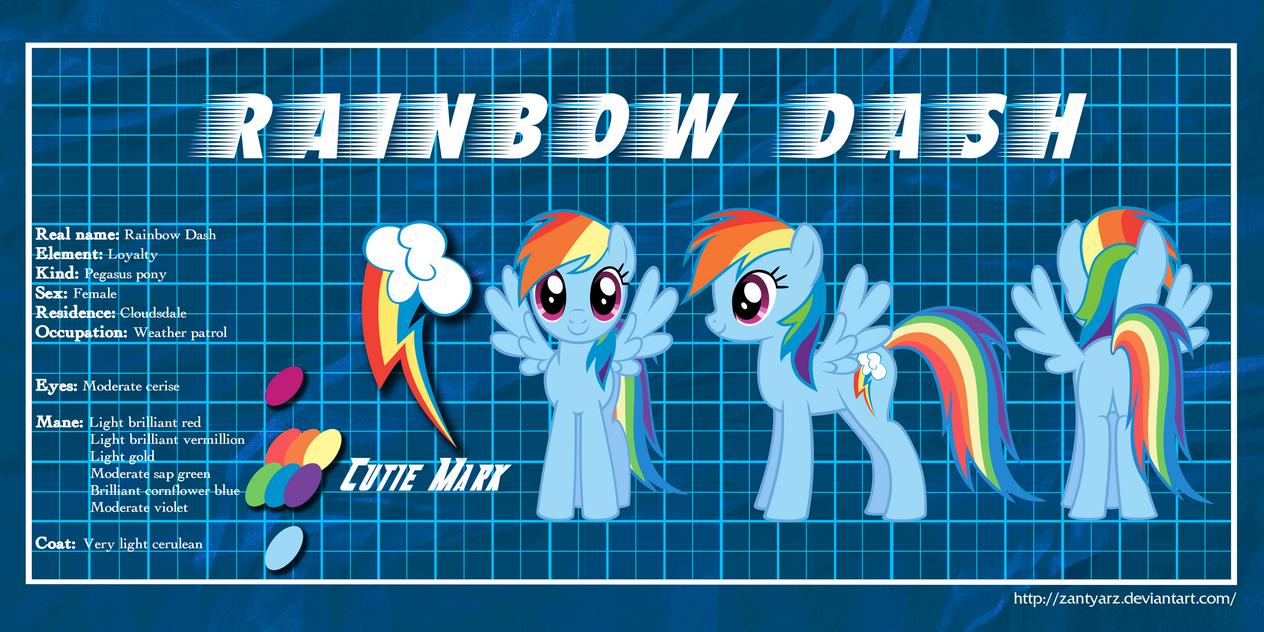 MLP Profiles: Rainbow Dash by ZantyARZ