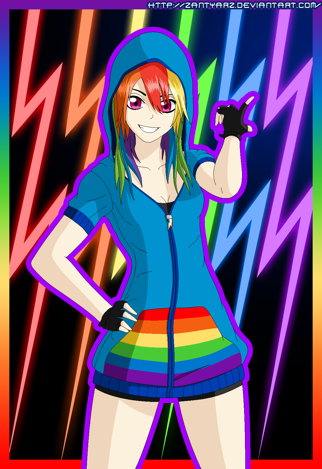 Rainbow Dash Human by ZantyARZ on DeviantArt
