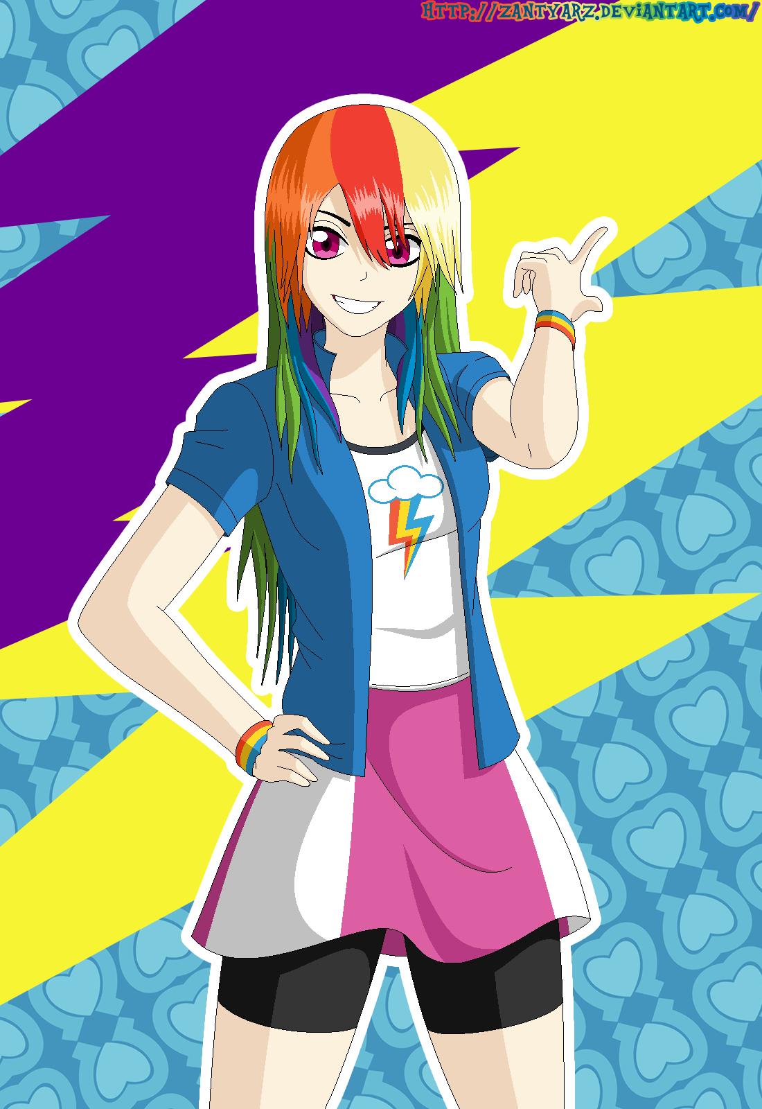 Rainbow Dash Equestria Girls by ZantyARZ