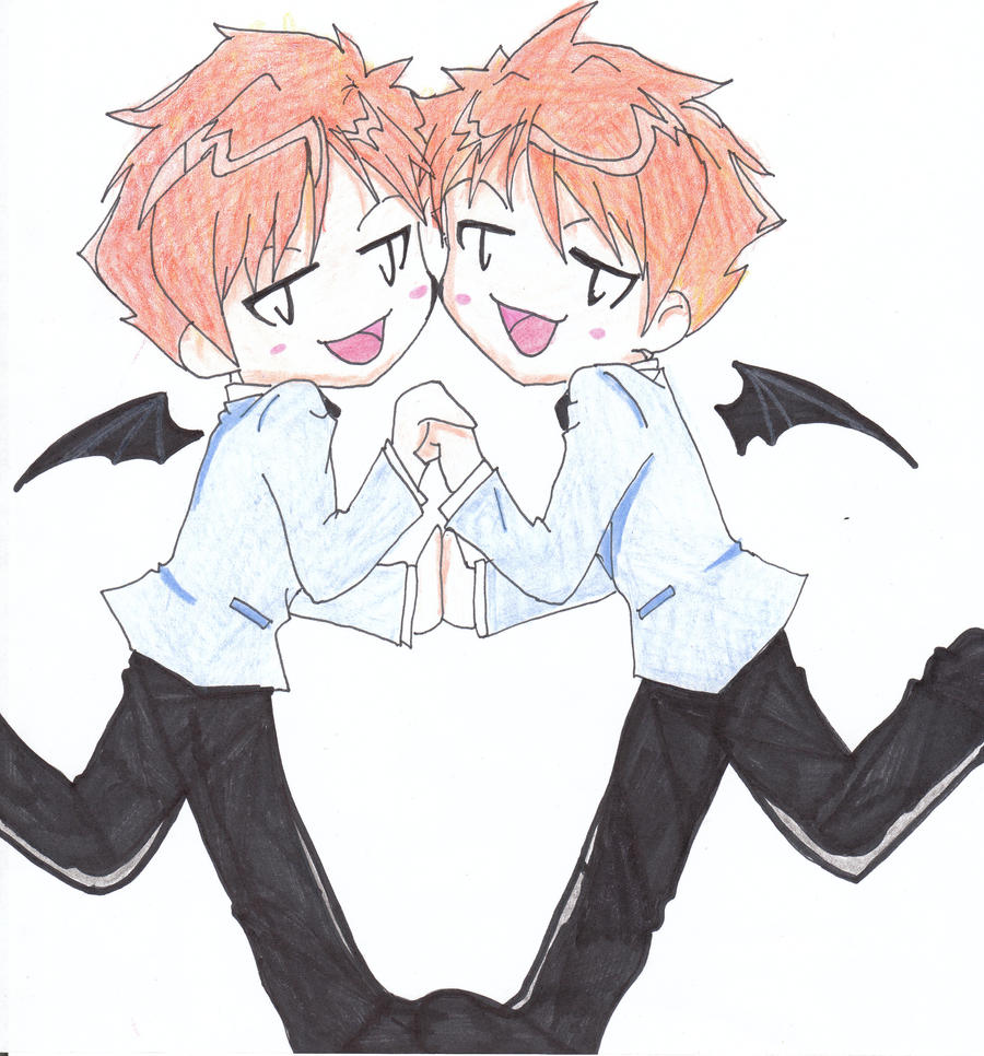 Hikaru and Kaoru chibi by kimberlyhenriksen on DeviantArt  Hikaru and Kaor...