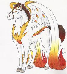 Flame Pegasus by felflowne