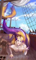 Commissioned  mermaid by Deyashk