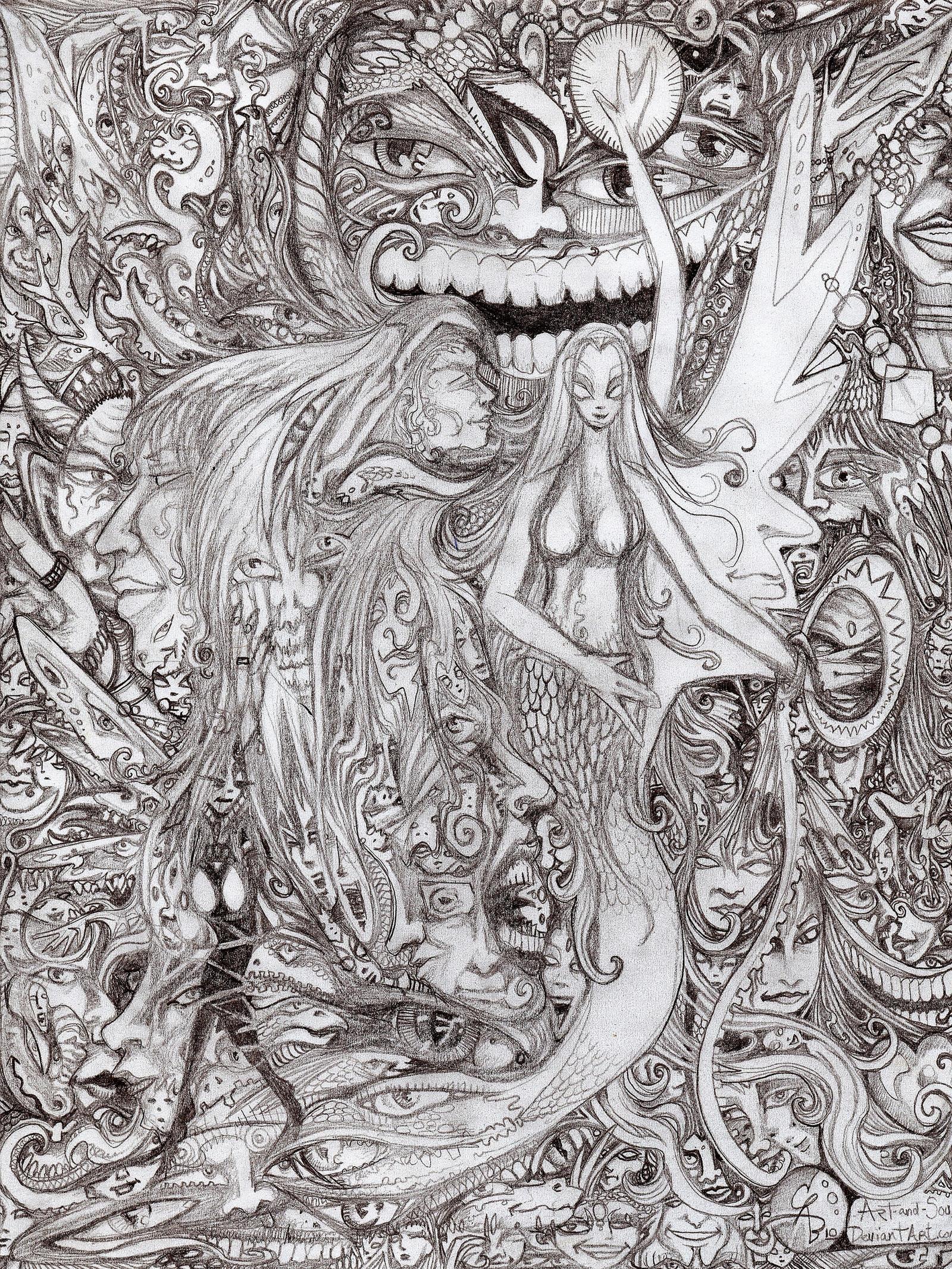 My insane pencil by CReevesABudd