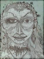 space goddess unfolded by CReevesABudd