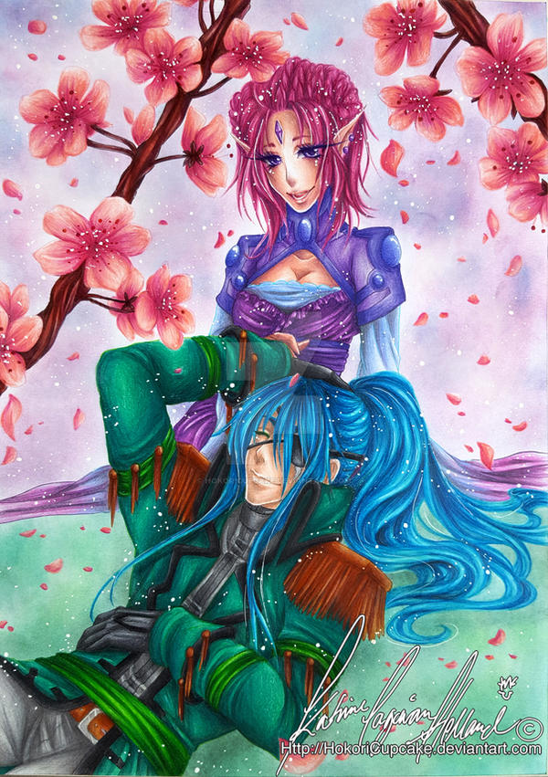 :.Hymniia commission - Blooming love.: by HokoriCupcake