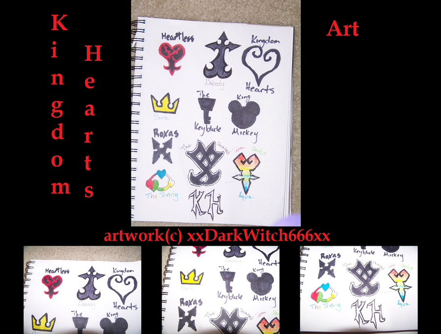 Kingdom Hearts Symbols By Cakesgosupernova On Deviantart