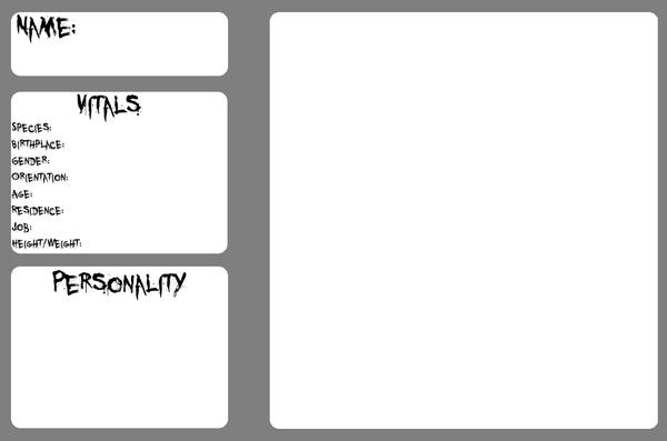 OC Character Profile Template by CakesGoSupernova on DeviantArt