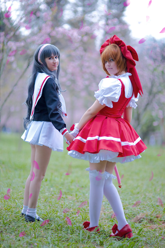 Sakura Kinomoto and Tomoyo by JuTsukinoOfficial