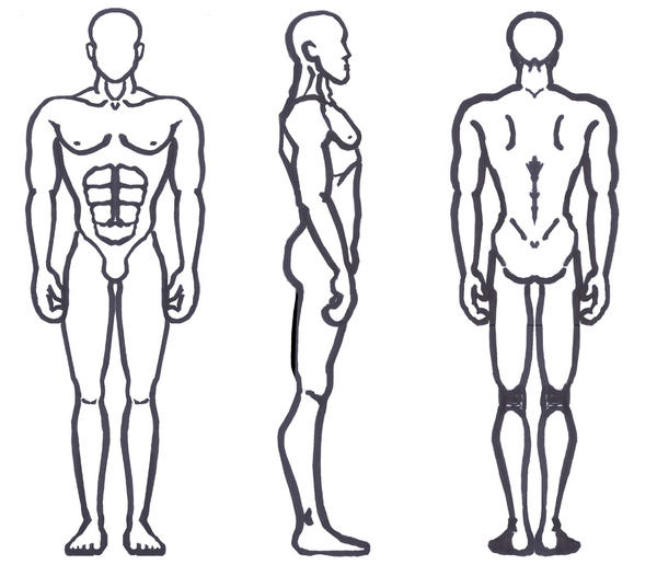 Male Anatomy - Broad Shoulders by sunandshadow