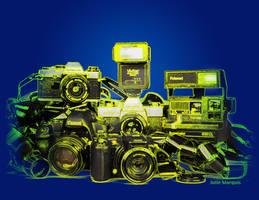 Cameras Line Art