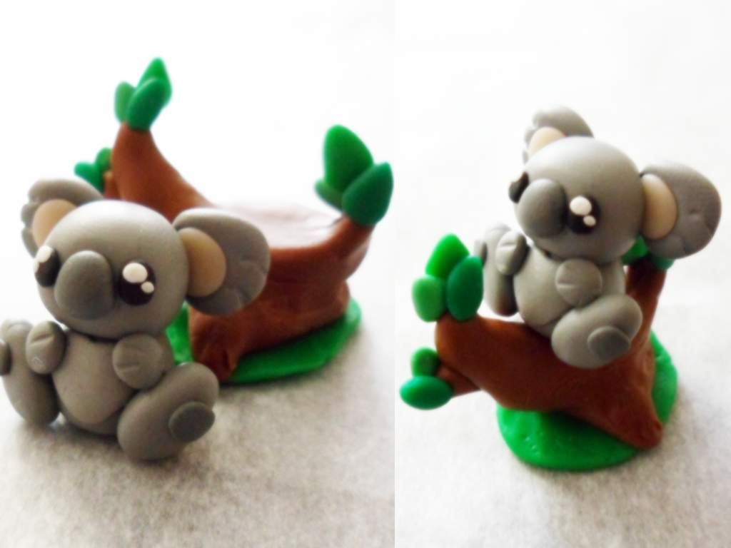 Polymer Clay Koala by Saru-Hime