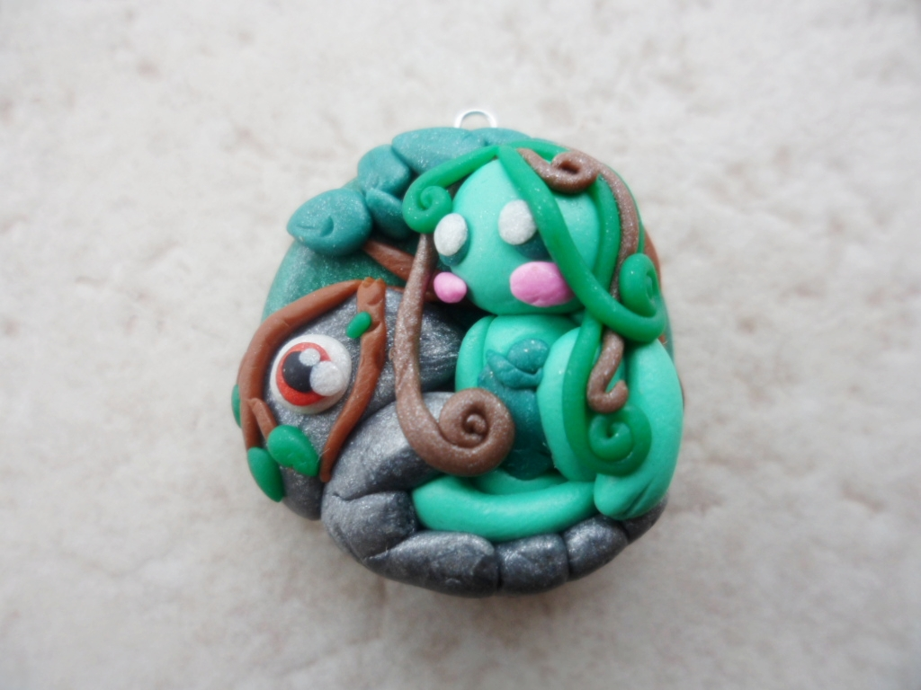 Earth Elemental Pendant by Saru-Hime