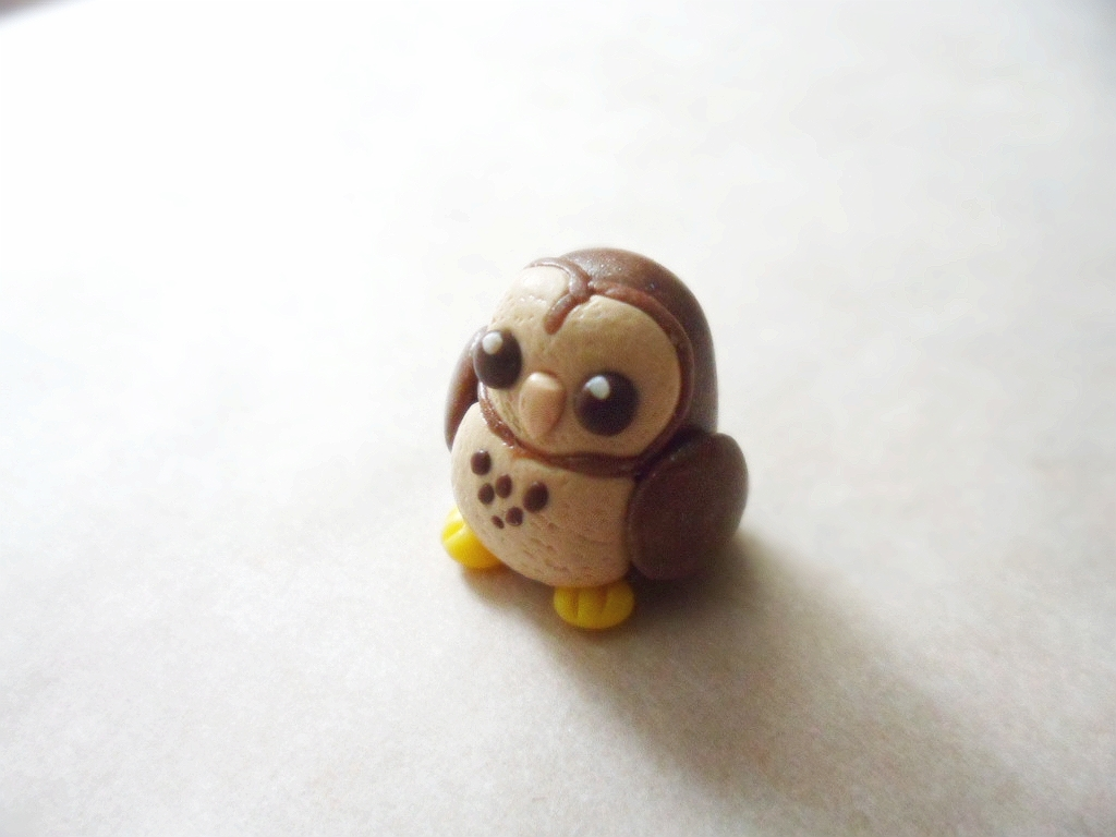 Tiny Polymer Clay Owl by Saru-Hime