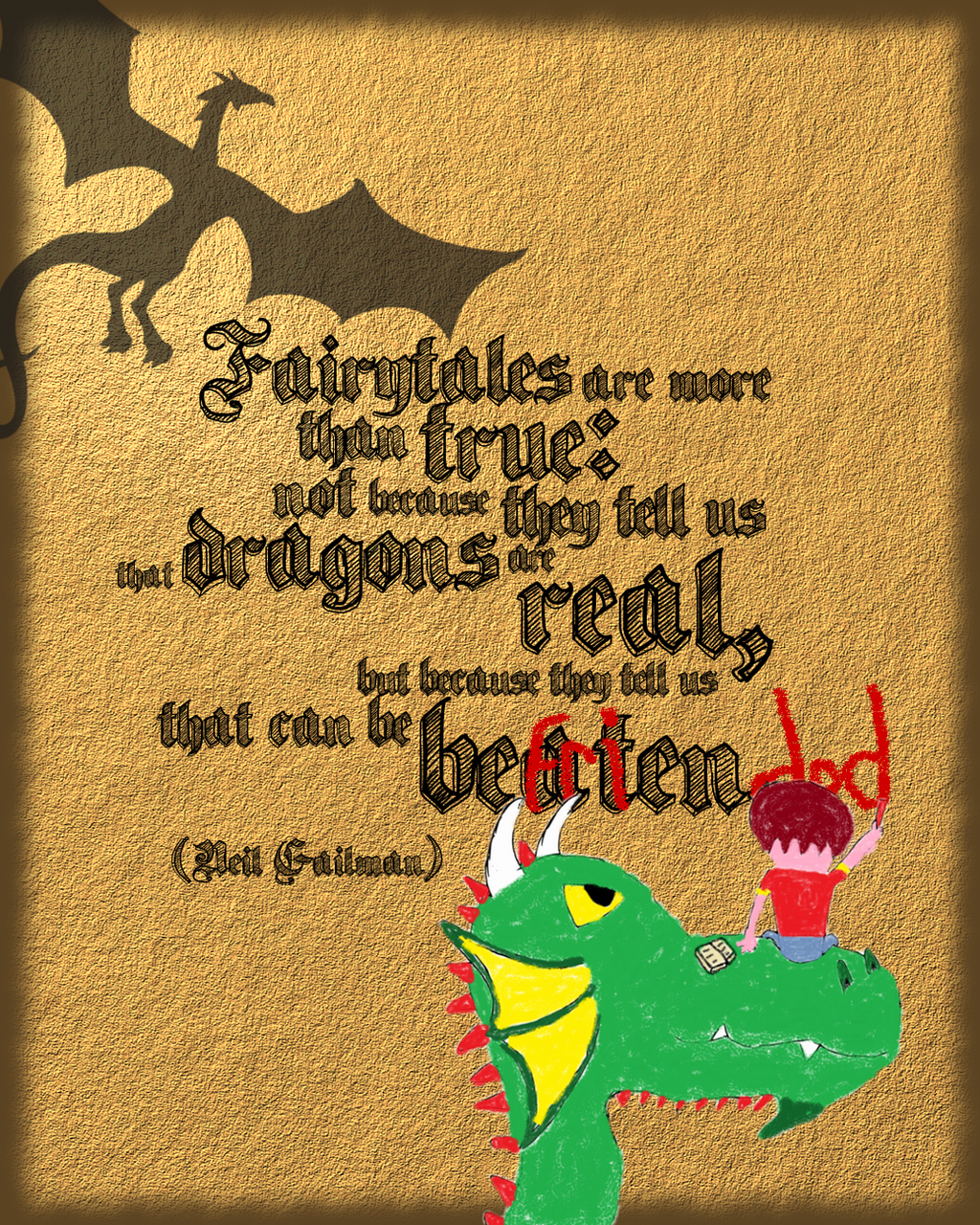 There Be Dragons Quote: Dragon Quote Poster By RandomVanGloboii On DeviantArt