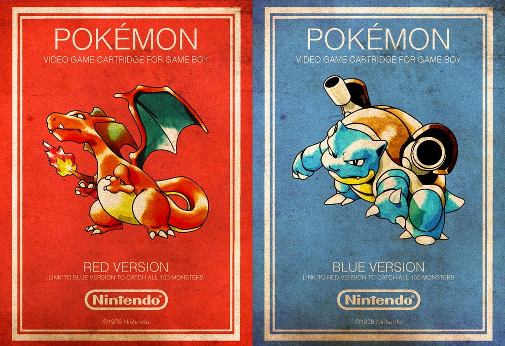 vintage videogame posters pokemon by randomvangloboii on deviantart