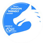 Dragon friendly location - official DHA badge by RandomVanGloboii