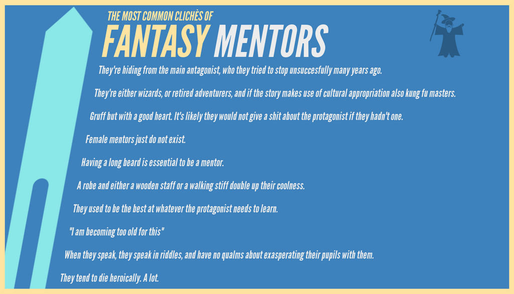 The most common cliches of fantasy: MENTORS by RandomVanGloboii on
