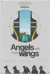 Angels with Scaly Wings minimalist poster by RandomVanGloboii