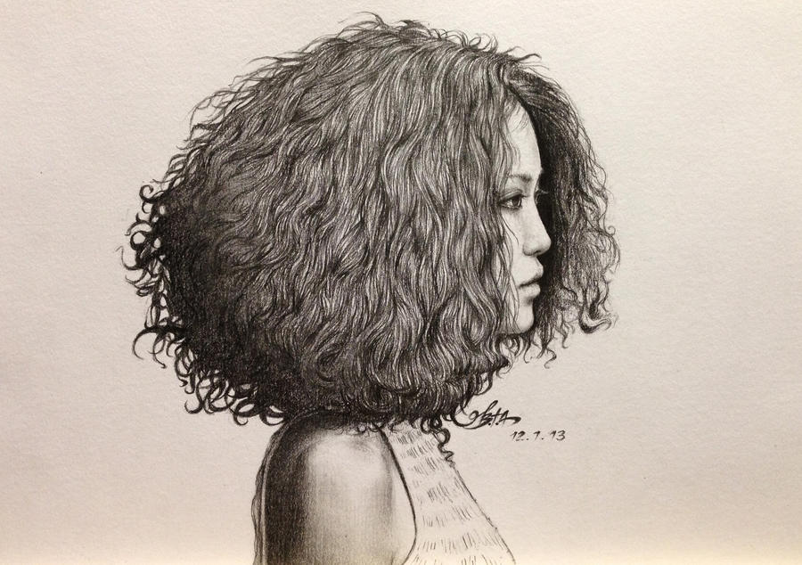 Curly Haired Girl By Chingybta On DeviantArt