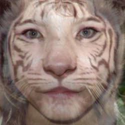 white tiger girl
