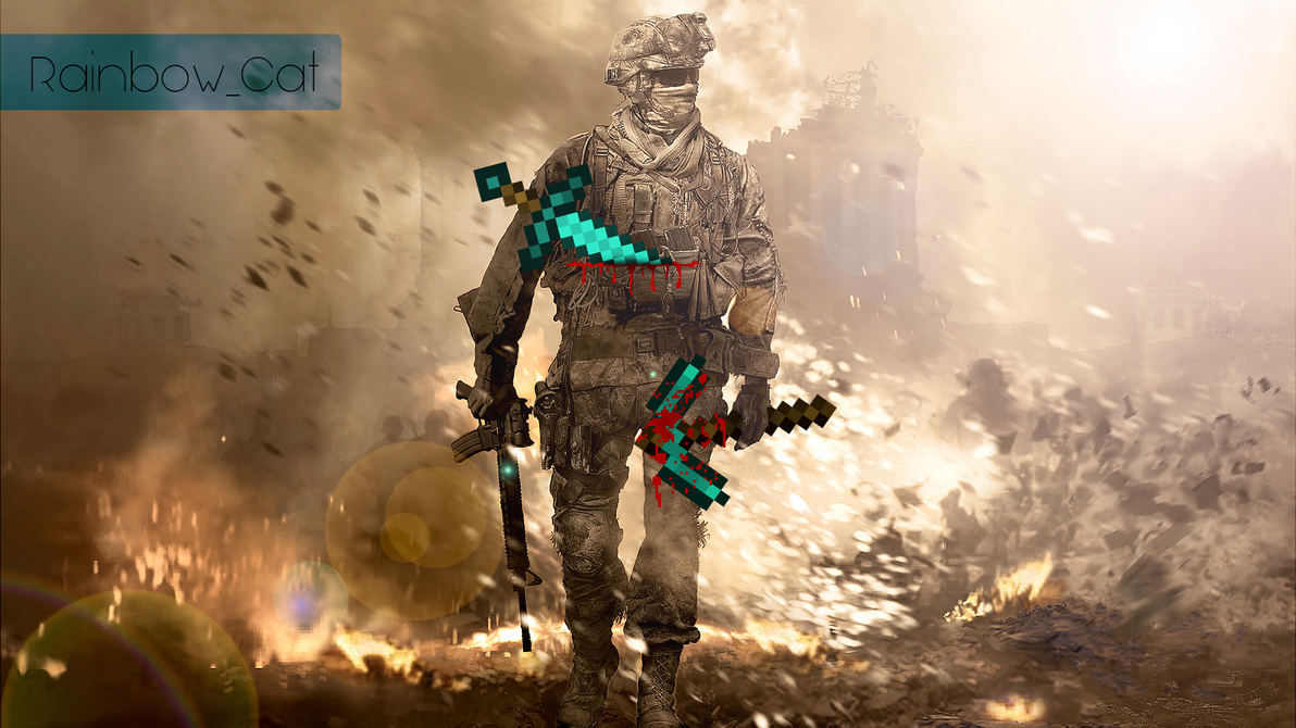 Minecraft MW2 Wallpaper By 9393andersson