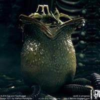 ALIEN egg and facehugger CGI by locusta