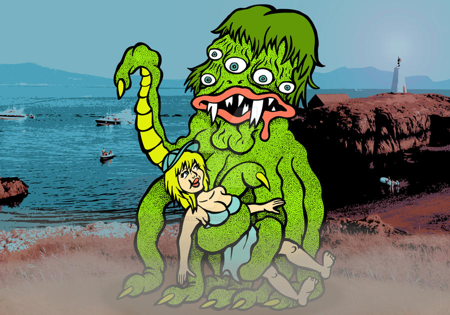 Sea Monster and the Girl by RossRadiation