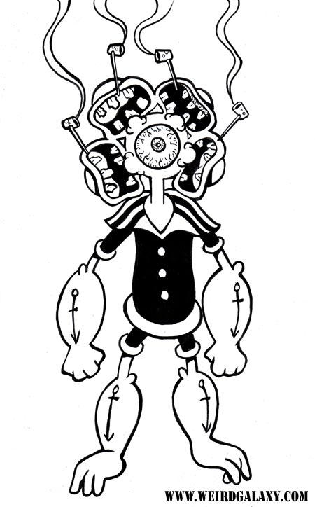 Mutant cyclops popeye by rossradiation on deviantart for Popeye coloring pages