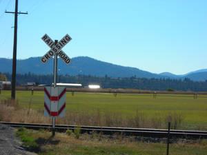 Rail Road Sign.