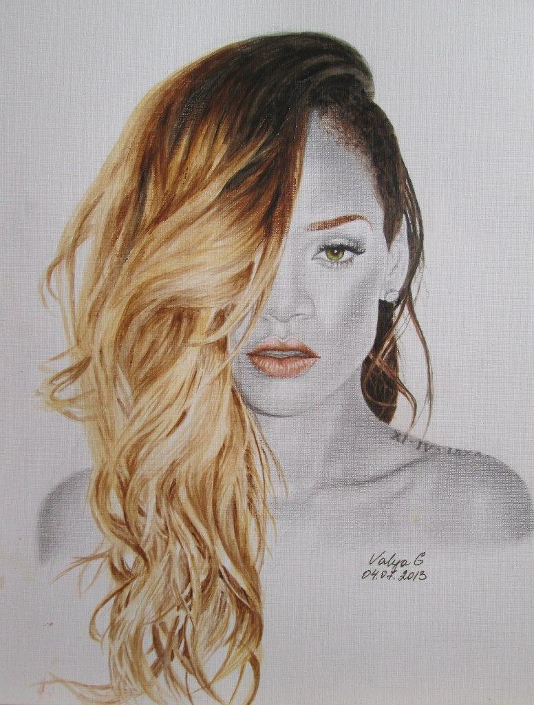 Rihanna by ValyaG