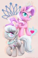 Diamond Tiara and Sliver Spoon by baitoubaozou
