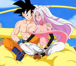 Goku and Android 21 by axzlrose on deviantart