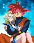 Goku and Android 18