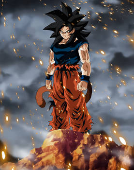 SSJ4 in Orange Gi