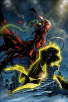 Spawn and Sinestro Corps Batman by ComicMultiverse