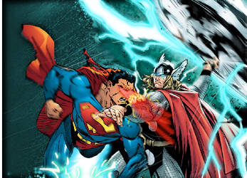 Superman vs Thor by ComicMultiverse