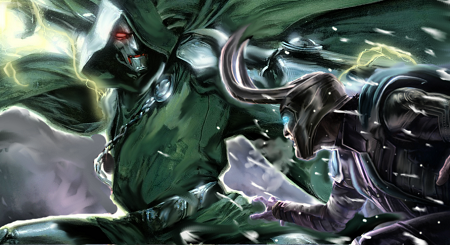 Dr. Doom Vs Loki by ComicMultiverse
