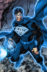 Blue Lantern Superman by ComicMultiverse