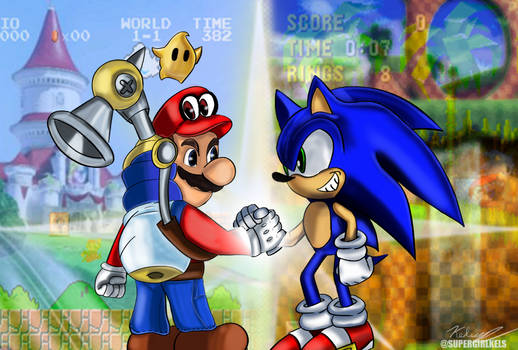 Happy 35th Birthday to Mario from Sonic and I!