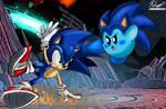 Sonic Vs Kirby in Super Smash Bros.