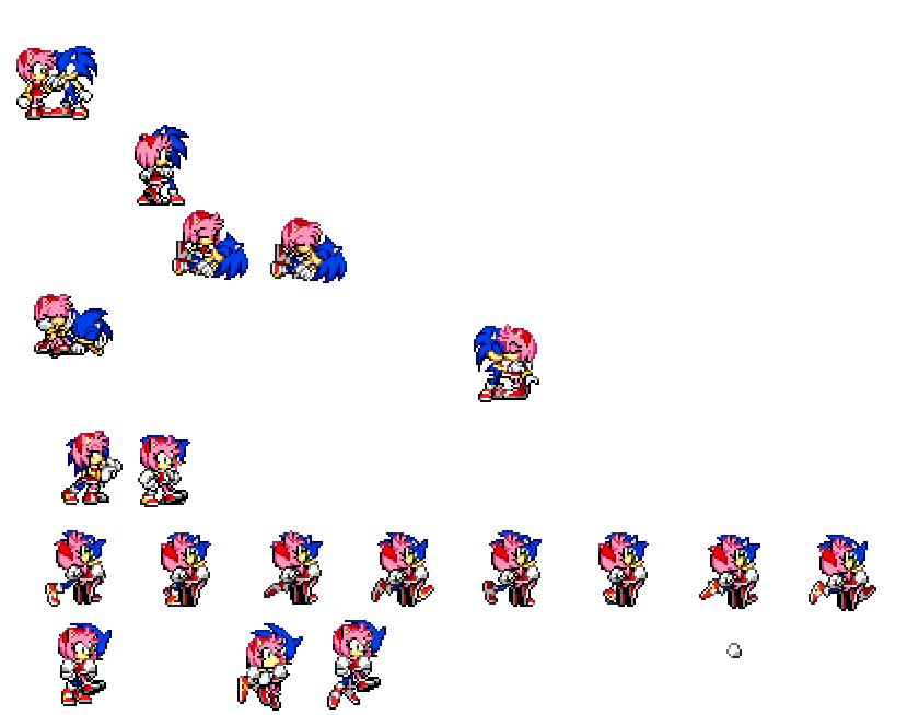 Sonamy Sprite sheet by sonicthehedgehog1232