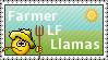Stamp - Llama Farmer by Yiinx