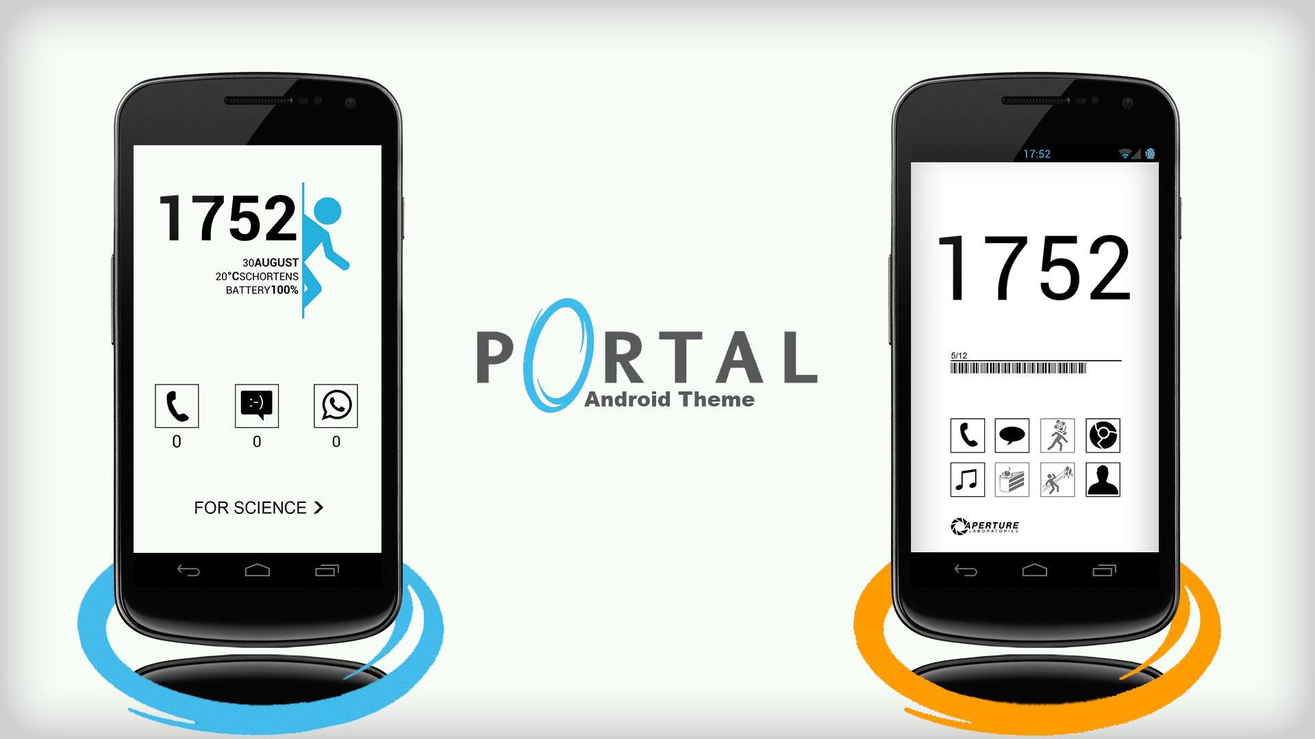 Androidportal portal android theme55runner on deviantart
