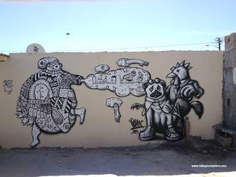 Maboneng Mural - Rayzer X Guru7 by rayyzer