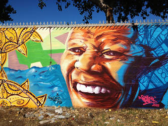 Madiba Tribute Mural by rayyzer