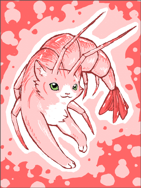 Prawn Cat by PineappleSodaCat